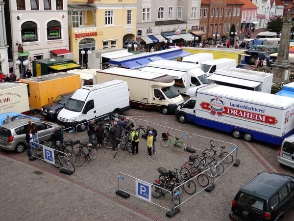 Markt Fahrradstand