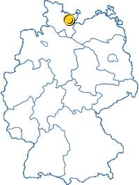 Lage von Eutin und Süsel in Deutschland